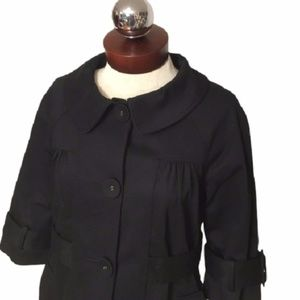New LOFT Short sleeve babydoll trench Jacket 6